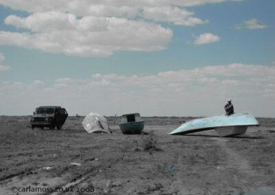 Astana Blue - Upside down boat