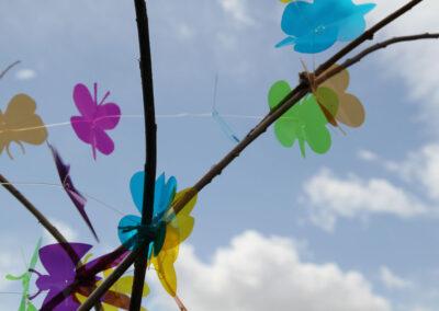 Butterflies, Straw Bale Planters